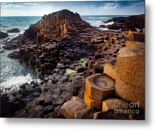 Rugged Giant's Causeway Metal Print