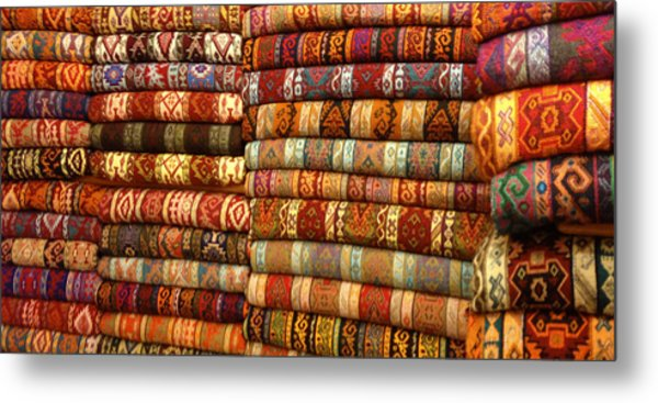Rugs Kilims Carpets Grand Bazaar Istanbul Turkey Metal Print by PIXELS  XPOSED Ralph A Ledergerber Photography