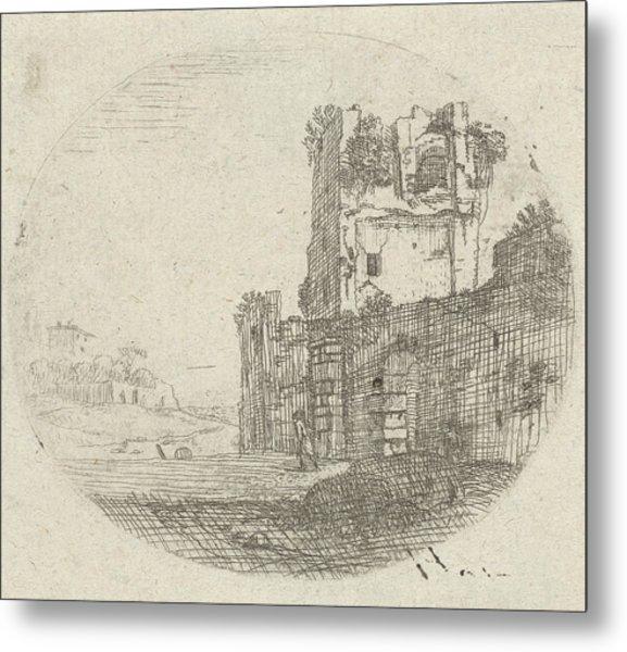 Ruin In A Landscape, Jan Van Nickelen Metal Print