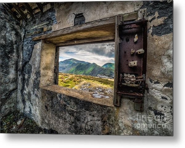 Ruin With A View  Metal Print