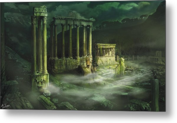 Ruined Temple Metal Print by Anthony Christou