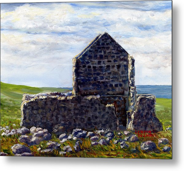Ruins In Tasmania On The Sea Shore Metal Print
