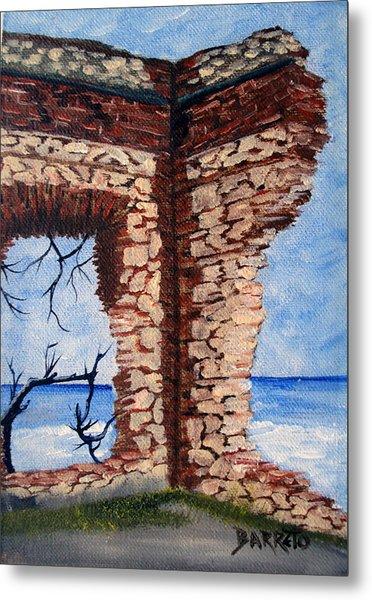 Ruins Of Aguadilla Lighthouse Metal Print