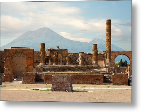 Ruins Of Pompeii Metal Print
