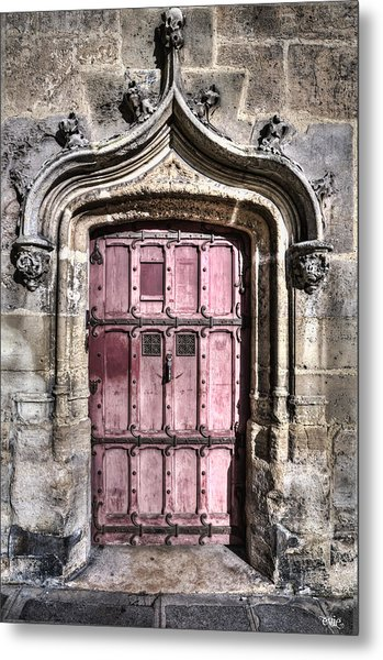 Ruins With Red Door Metal Print