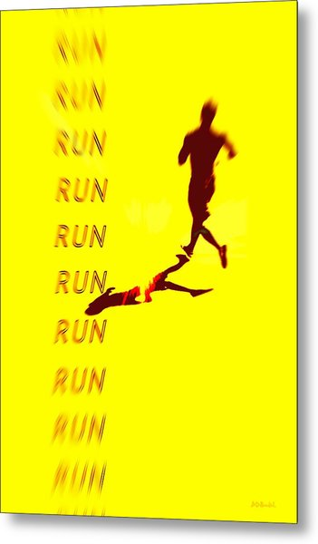 Run Run Run Metal Print by Brian D Meredith