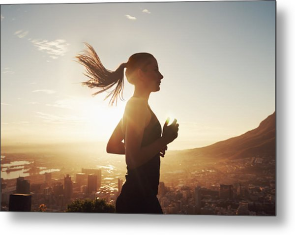 Run With The Sun Metal Print by PeopleImages