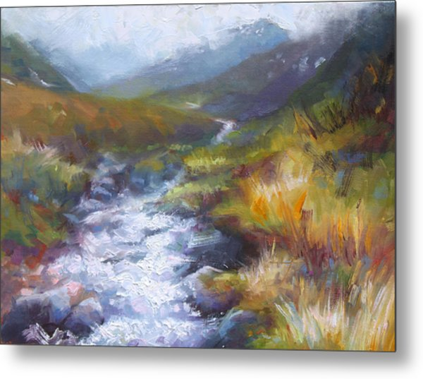 Running Down - Landscape View From Hatcher Pass Metal Print