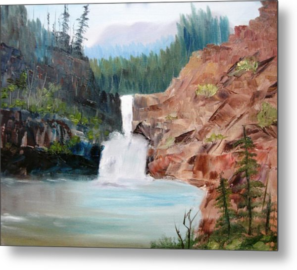 Running Eagle Falls Metal Print