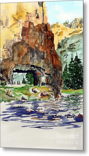 Running In The Poudre Canyon Metal Print