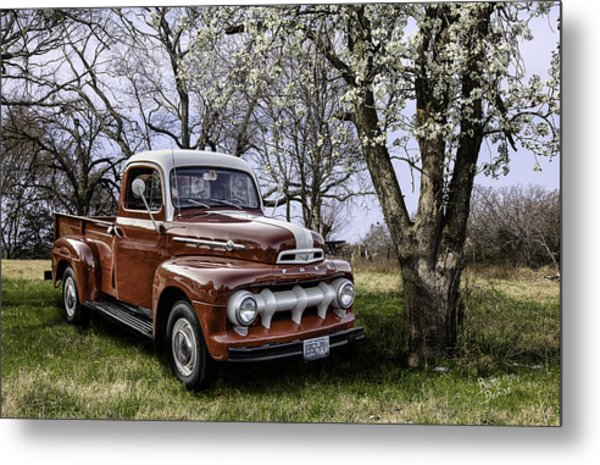 Rural 1952 Ford Pickup Metal Print