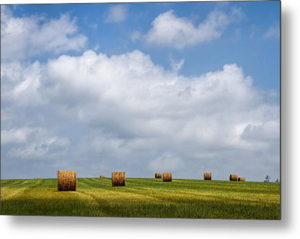 Rural America - A View From Kansas Country Roads Metal Print