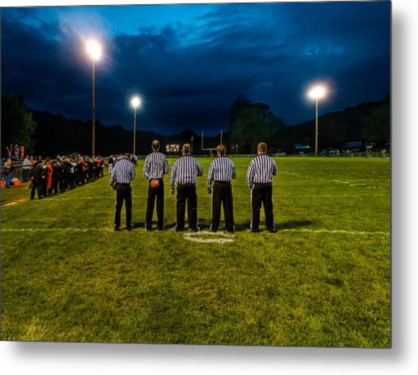 Rural Friday Night Lights Metal Print by Michael Weaver