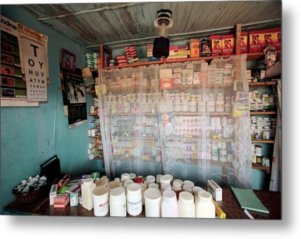 Rural Pharmacy Metal Print