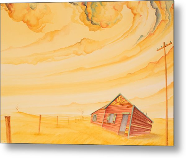 Rural Post Office Metal Print