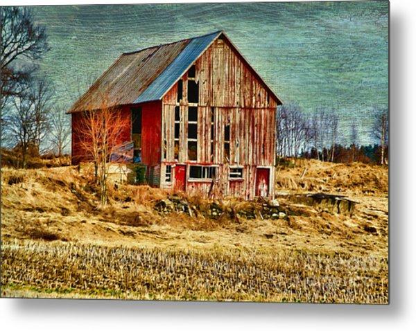 Rural Rustic Vermont Scene Metal Print