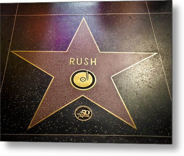 Rush Has A Star Metal Print