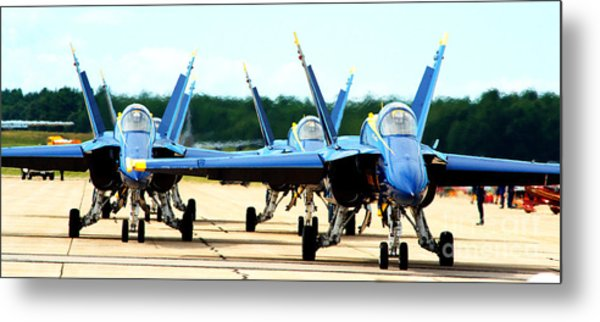 Rush Hour For Angels Metal Print