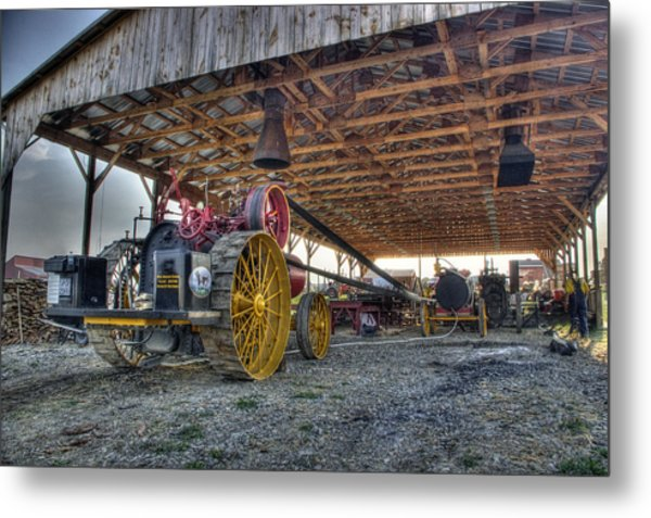 Russell At The Saw Mill Metal Print