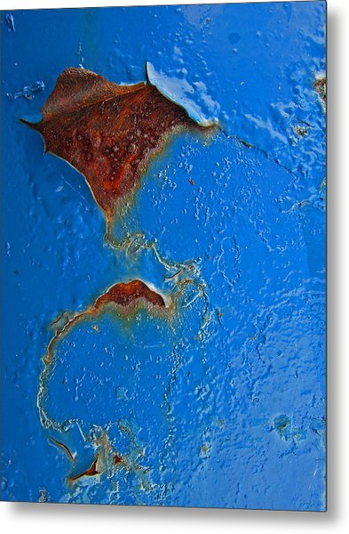 Rust Abstract Metal Print by Mary Bedy