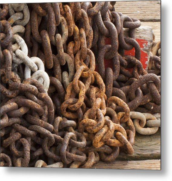 Rust Chains Metal Print