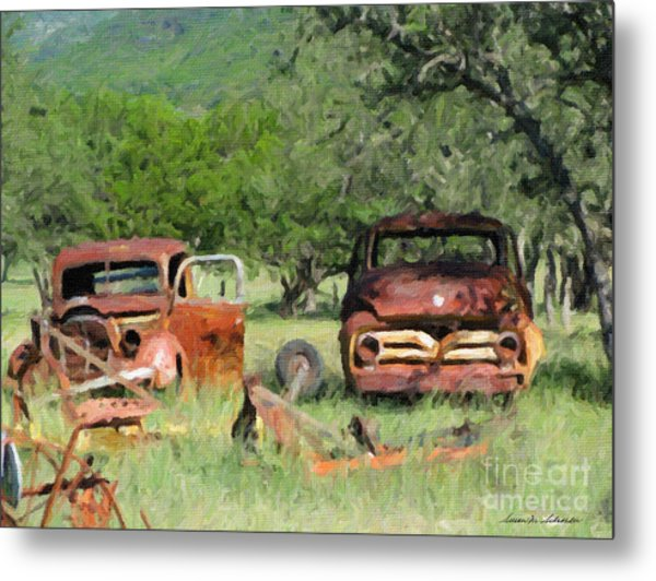 Rust In Peace No. 3 Metal Print