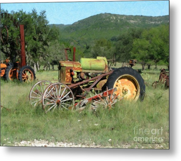 Rust In Peace No. 4 Metal Print