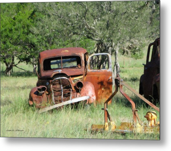 Rust In Peace No. 5 Metal Print
