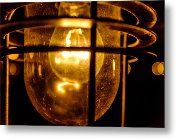 Rust Light Metal Print
