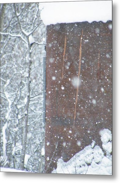 Rust Not Sleeping In The Snow Metal Print