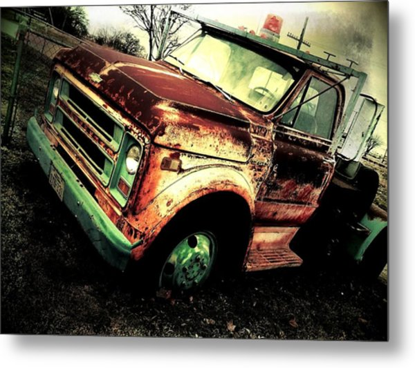 Rusted And Busted Metal Print by Denisse Del Mar Guevara