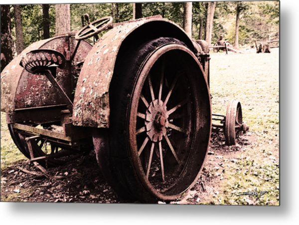Rusted Big Wheels Metal Print