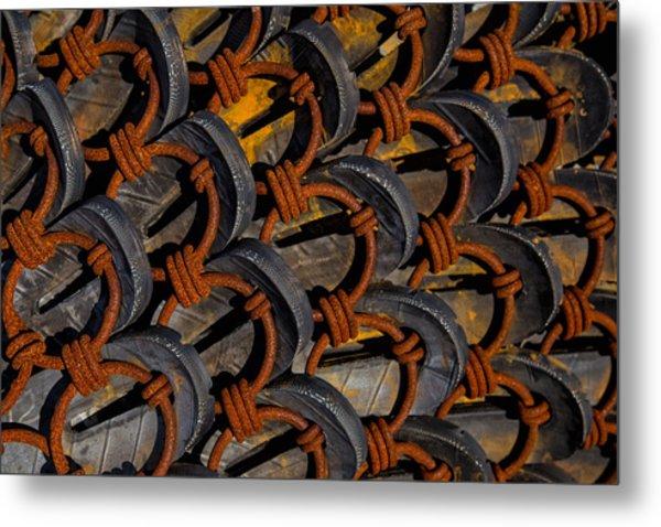 Rusted Circles Metal Print