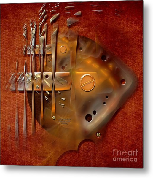 Rusted Machinery Metal Print