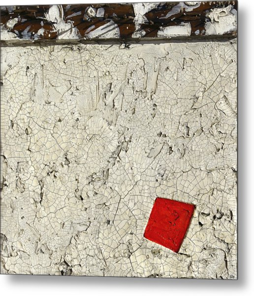 Rusted Nails     Red Dot Metal Print