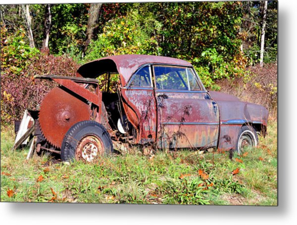 Rusted Old Car Metal Print