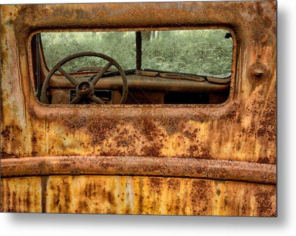 Rusted  Metal Print