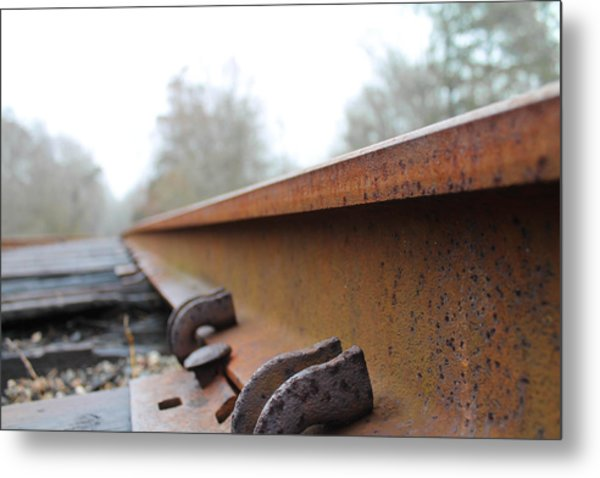 Rusted Track Metal Print