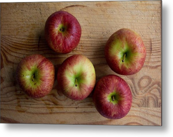 Rustic Apples Metal Print