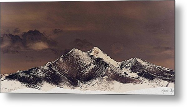 Rustic Mountain Metal Print by Augustina Trejo