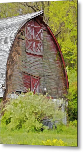 Rustic Red Barn II Metal Print