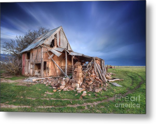 Rustic Ruin Metal Print by Shannon Rogers