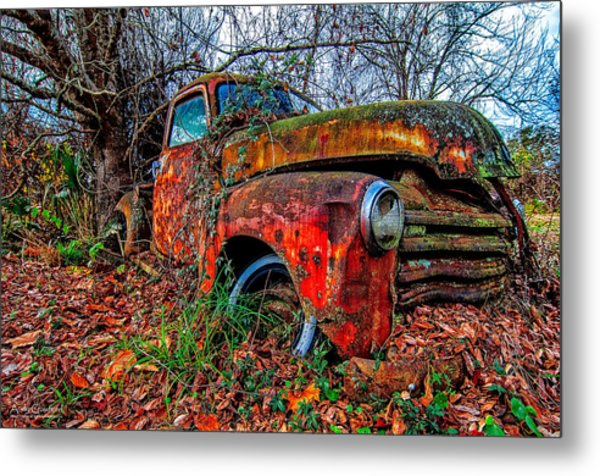 Rusty 1950 Chevrolet Metal Print
