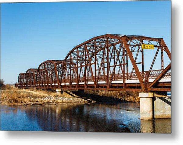 Rusty Bridge Metal Print