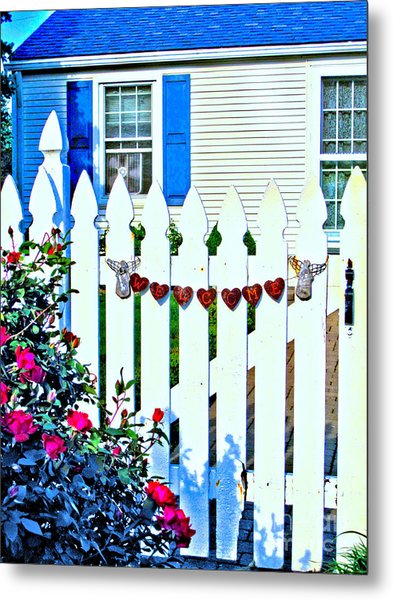 Rusty Cottage Welcome Metal Print