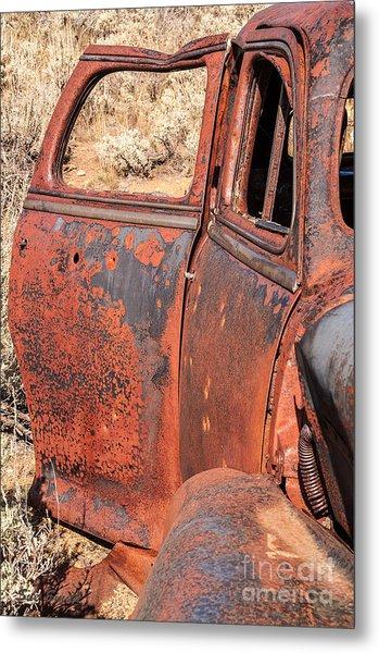 Rusty Doors Metal Print