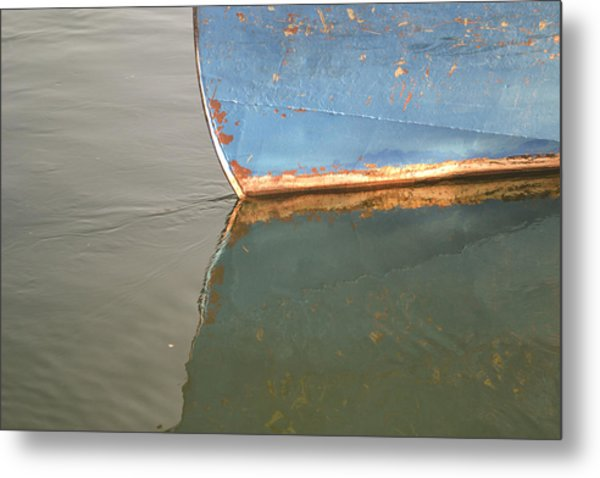Rusty Hull Reflection Metal Print