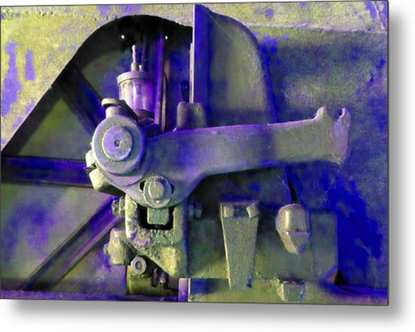 Rusty Machinery Metal Print