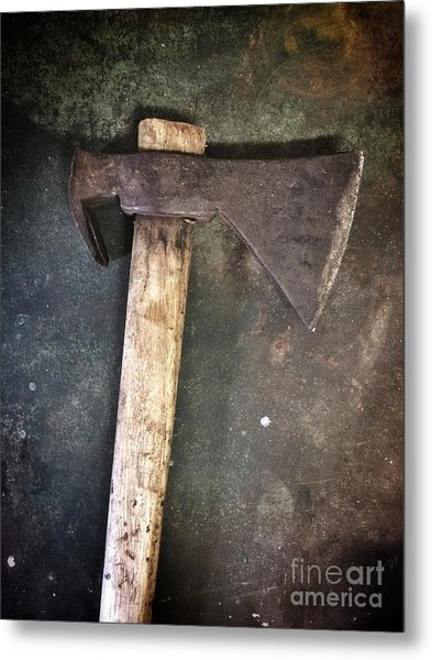 Rusty Old Axe Metal Print