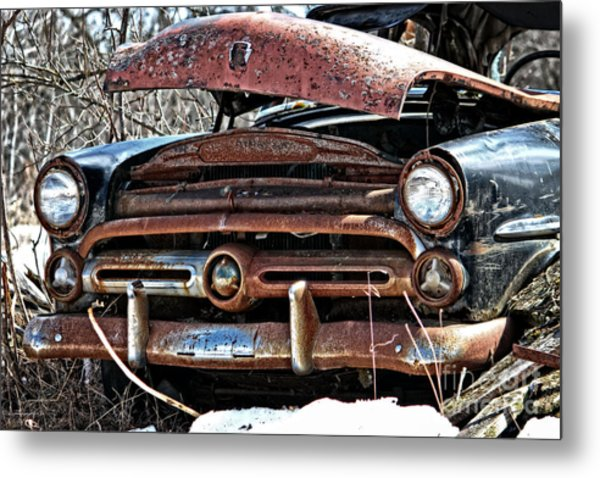 Rusty Old Car Metal Print